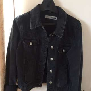 Topshop Denim Moto Jacket