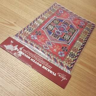 Red Turkish Woven Traditional Carpet Mousepad