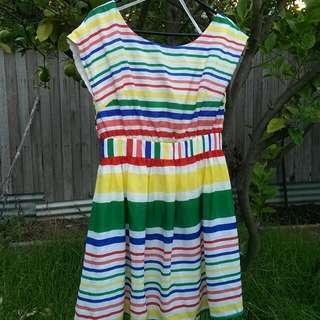 Size 12 Lashes of London Rainbow Beach Dress