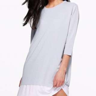 BOOHOO Adelita Oversized & layered shift dress
