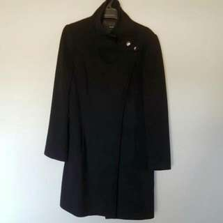 Marcs Black Wool Blend Coat
