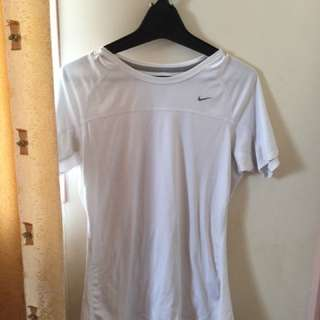 White Nike Drifit Top