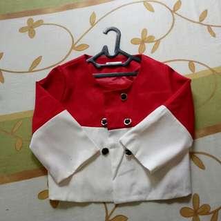 Blazer Merah Putih Import