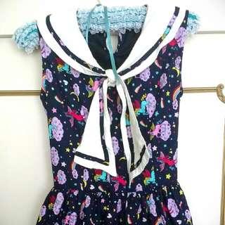 Size 12 Sailor Style Dress With Unicorn Print 🦄