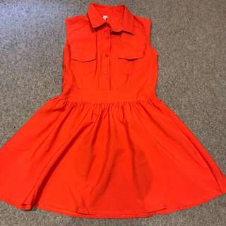 Preppy Orange Dress