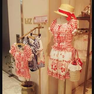 日本Liz Lisa 士多啤梨果醬圖案半裙