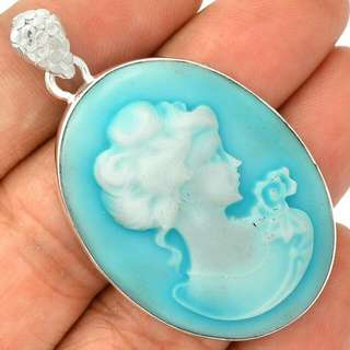 Mod Uptake On Antique   Details about  Cameo 925 Sterling Silver Pendant