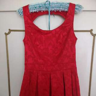 Size 12 Review Red Skater Dress
