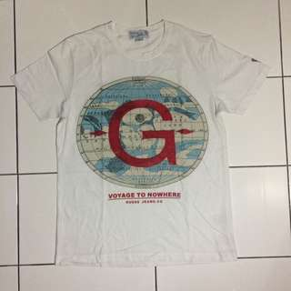 White T-shirt Guess