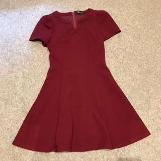 Maroon Work Dress