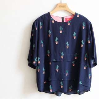 Korean Cactus Blouse