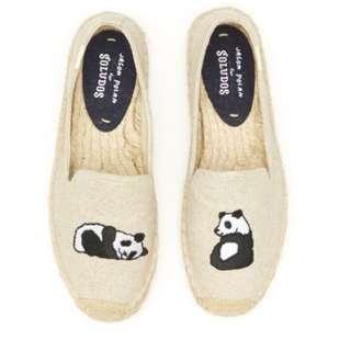 折扣!Soludos 新款熊貓草編鞋🐼