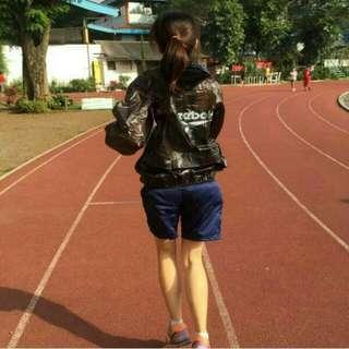 Jaket Sauna Cowo Cewe hitam (BARU)
