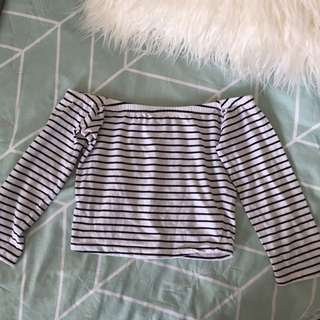 GLASSONS OFF THE SHOULDER CROP / SIZE M