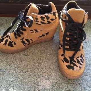 Leopard Print Hi Heel Converse - Sportsgirl Size 37