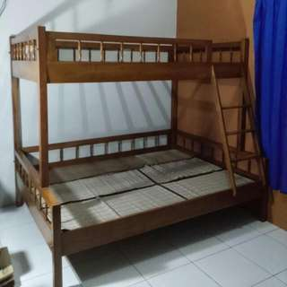 Jual Tempat Tidur 2 Tingkat Kayu Jati Asli Sangat Kokoh