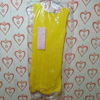 Yellow Basic Body Dress