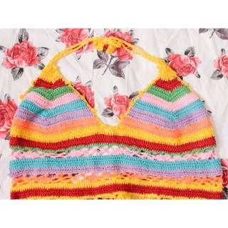 Copper Crochet Bikini Top