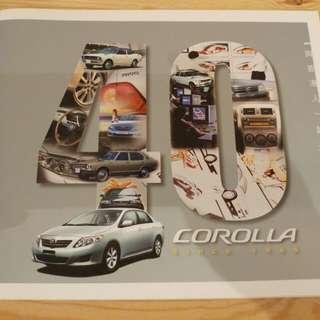 出售corolla 40週年紀念特刊一本,售200元,有意請pm我,謝謝!