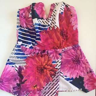 Ally Strapless Floral Top