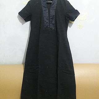 Bju Black Dress Formal Merk Mint