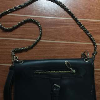 sling bag with sign of usage