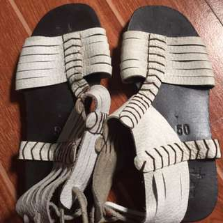 our tribe sandals size 5 needs cleaning repriced