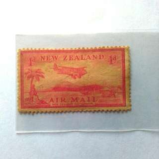 New Zealand Airmail 1d Stamp / Setem
