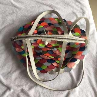 Furball Bag Multicolor Bag Srw Tas Wanita Tas Handbag Shoulder Bag Authentic Tas Kulit Asli Real Leather Bag