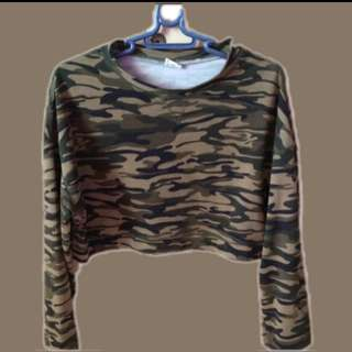 Army Sweater Cropped