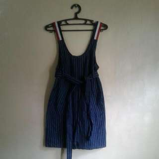 Darkblue Stripe Dress