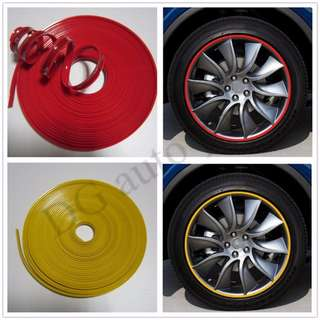 Car Vehicle Wheel Rim Protector Tire Guard Line Rubber Moulding 8 Meters