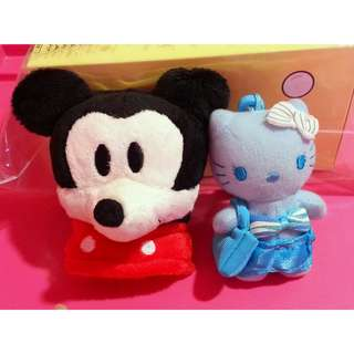 [CLEAR] Mickey Pouch & Hello Kitty Toy