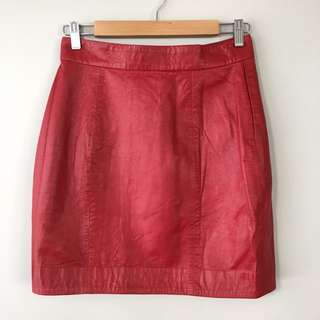 Lover The Label Warrior Leather Skirt Size 10