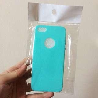 Apple hole Soft Case Iphone 5 / 5s / SE tosca