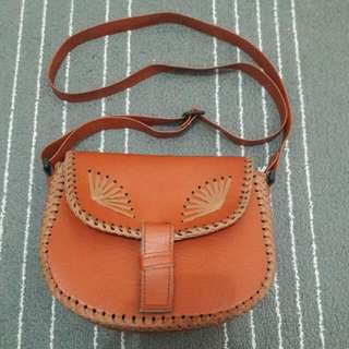 [NON BRANDED] Brown Sling Bag