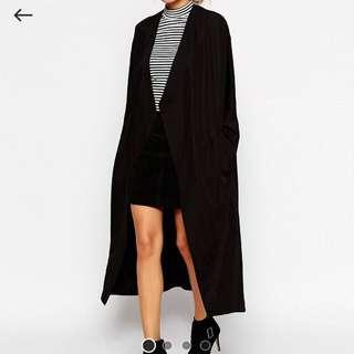 Asos kimono waterfall coat
