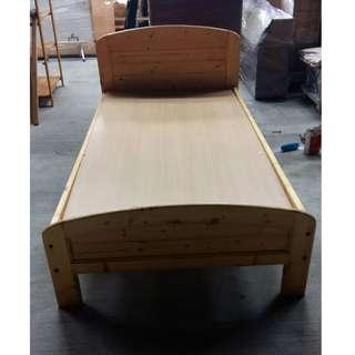 二手家具 台中連冠中古傢俱館❋B0517AJB原木色單人3.5尺床架❋床組 床架 床底 組合式床架 床台 家具 家電買賣
