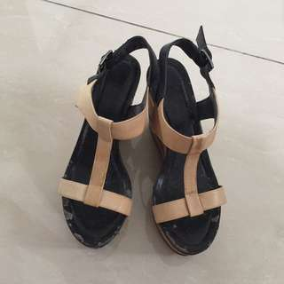 Staccato Shoes Sepatu Wedges High Heels Party Shoes Casual