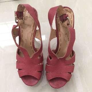 Nine West Authentic Shoes Sepatu High Heels Wedges Party