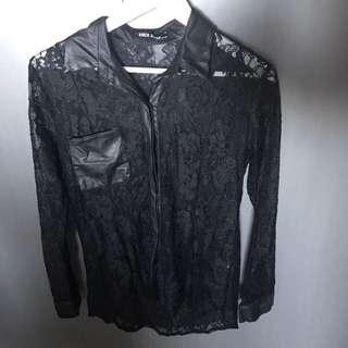 Hot Property Black Lace Shirt
