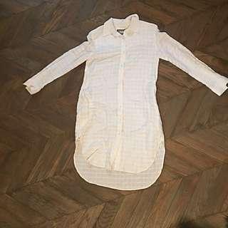White Linen Shirtdress