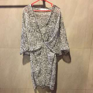 Print Cape Dress