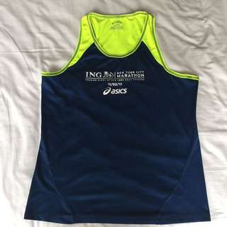 Asics New York Marathon Tank Sportswear Sportgear Baju Olahraga Lari Runing