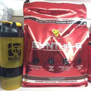 低熱量 BSN Syntha-6 高蛋白 酵素酪蛋白長效乳清 10磅