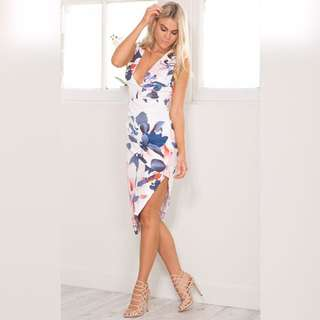 SHOWPO NAVY FLORAL DRESS
