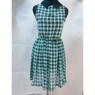 Houndstooth Mini Dress