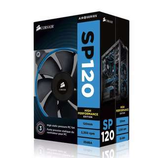 BNIB - Corsair Air Series SP120 High Performance Edition 120mm Case Fan (Comes with local invoice and warranty)