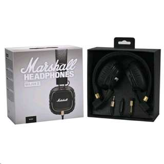 MARSHALL MAJOR 2 HEADPHONES WITH MIC AND VOLUME CONTROL <NEW AND SEALED>