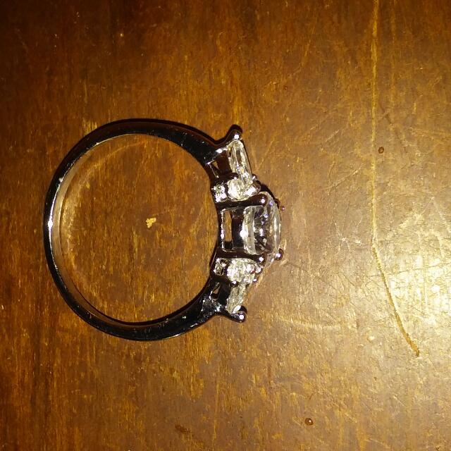 18 K Gold Filled White Topaz Ring